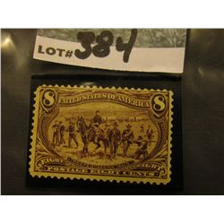 Scott #289 8c Trans Mississippi Expo. Violet Brown, Mint Hinged Rement.
