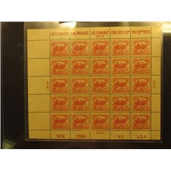 Scott #630 White Plains International Philatelic Expo. Souvenir Sheet of 25, Mint Never Hinged