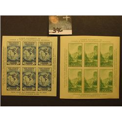 Scott #735, 751 Souvenir Sheets, Both Mint Never Hinged.