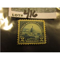 Scott #572 $2. Deep Blue. Mint Hinged Rement.