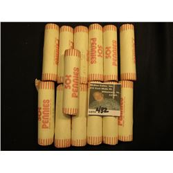 (13) Various rolls of bank-wrapped Lincoln 'Wheat' Cents