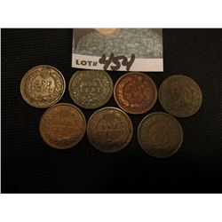 (7) Old Indian Head Cents including a high grade 1901.