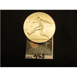 51 mm Aluminum Soccer Medal. 5mm thick.
