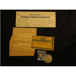 """Official-Prepaid Sales Tax Receipt One Dollar State of Ohio""; (6) Cash (Flying) Plan Cards from Sha"