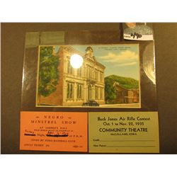 "3 1/4"" x 5 3/8"" matted print ""Storey County Court House Virginia City, Nevada"", in original shrink w"