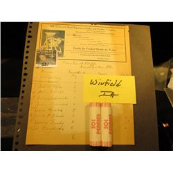 "Stationery with inked invoice ""Hall Grain and Seed Separator, Grader and Purifier Company…Winfield,"