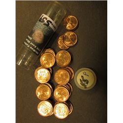 (44) 1955 P Gem BU Lincoln Cents in a Plastic tube.