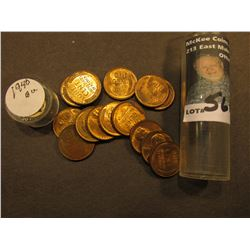(15) 1940 P Uncirculated Lincoln Cents in a Plastic tube.