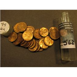 (29) 1944 P AU to Uncirculated Lincoln Cents in a Plastic tube.