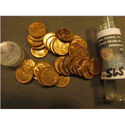 (30) 1958 D AU to Uncirculated Lincoln Cents in a Plastic tube.