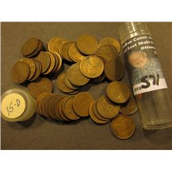 (54) 1915 D Lincoln Cents in a plastic tube. Average circulated.