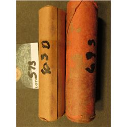 1963 D & 69 S BU Rolls of Lincoln Cents.