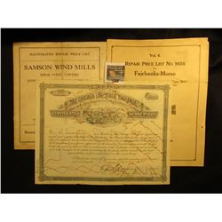 "1928 ""The Chicago Live Stock Exchange Certificate of Membership"" Hand cancelled, dated 1928; ""Illust"