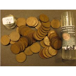 1927 P Lincoln Cent Roll. Circulated. (50 pcs.).