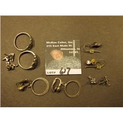 (4) Sets of Sterling Silver Earrings and (2) Sterling Silver Rings.