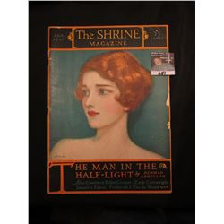 "Jan. 1927 ""The Shrine Magazine"", ""The Man in the Half-Light"", by Achmed Abdullah. Gorgeous cover art"
