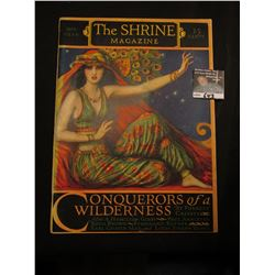 "Sept. 1926 ""The Shrine Magazine"", ""Conquerors of a Wilderness"", by Forrest Crissey. Gorgeous cover a"