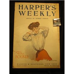 "July 6, 1907 ""Harper's Weekly"" ""The Fourth"" Woman With her Hands Over her Ears. Harper & Brothers, N"