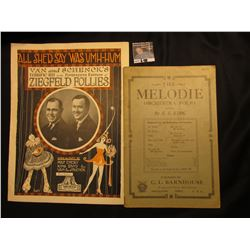 """The Melodia Orchestra Folio"" By C.L. Bournhouse, Oskaloosa, Iowa. and ""All She'd Say Was UHM-HUM"" Z"