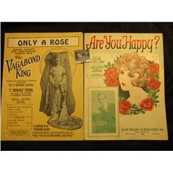 """Only  A Rose"", ""Vagabond King"" and other songs By Rudolf Fiml, ""Are You Happy"" By Ager. Yellin & Bo"