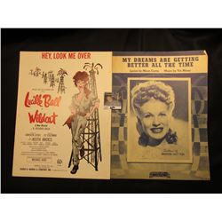 """Hey, Look Me Over"" Lucille Ball, ""My Dreams are Getting Better all the Time"" By Mann Curtis & Vic M"