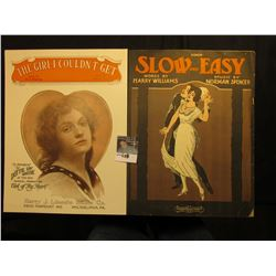 """Slow and Easy"" Harry Williams & Norman Spencer, ""The Girl I Couldn't Get"" Dotty Ray Greene. Muic Sh"