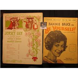 """Cooking Breakfast for the One I Love"" Fanny Brice, ""The Jersey Lily"" George V. Hobart & Reginald de"