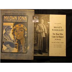 """My Own Iona"" Hawaii's Favorite Love Song by Bruce & King. ""The Man Who Came to Dinner"" Monty Woolle"