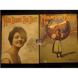 """Mae Burns Fox-Trot< By Chas. E. Roat, ""Mountain Belle"" By Kinkel, Music Sheets."