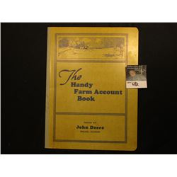 """The Handy Farm Account Book"" Issued by John Deere Moline, Illinois. 32 Pages and Published 1935-193"