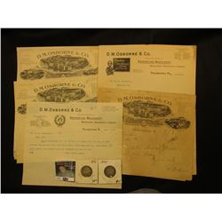 7 Pieces of Letterheads and Stationary from the D.M. Osborne Co. 1892-1901. With 1894 & 1895 Barber