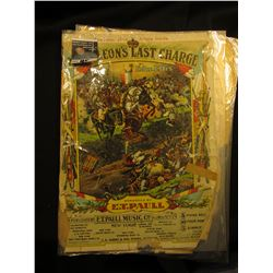 "Laminated Sheet Music & cover ""Napoleon's Last Charge"" by Edw. Ellis."