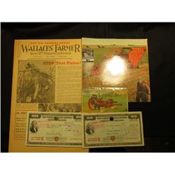 """Buy U.S. Savings Bonds Wallaces' Farmer Iowa Homestead"" October 16, 1948"" Newspaper; Advertising Sh"