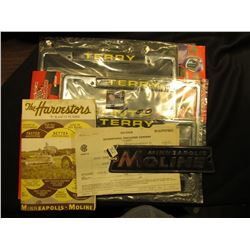 "(3) new in package License Plate frames ""Terry Labonte"", 1989-1999 Racing Champions; Metal Side Plat"