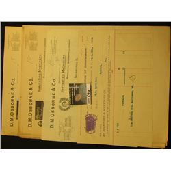"1897 & 1901 Invoices and etc. ""D.M. Osborne & Co. Manufacturers of Harvesting Machinery…"". (7 pcs.)."