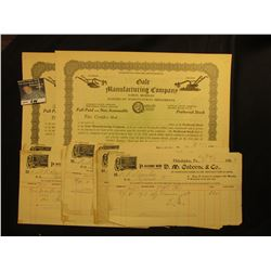 "(15) Invoices, which 'Doc' sold at $4 each from ""D.M. Osborne & Co…"" 1902, Farm related; & (2) Uniss"
