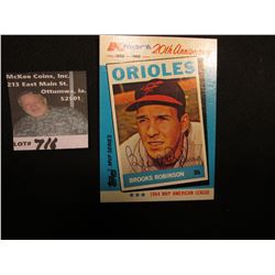 1962-1982 Kmart 20th Anniversary 'Brooks Robinson' Topps MVP Series. Personally autographed.