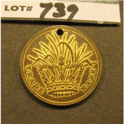 """Trade Mark"", Crown with Cattails obverse design, rev. ""Binder Twine/Victoria/Coradage/Works/Philade"