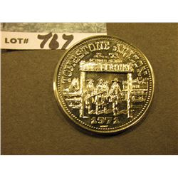 """Tombstone, Az./1971"", ""Tombstone Commemorative Series Issue…"", nickel, 39mm, high relief, BU."