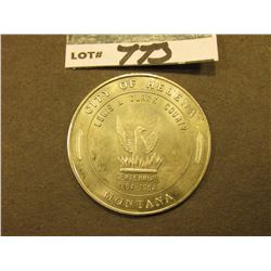 """Guardian of the Gulch/Helena/Montana/Official Souvenir Silver Dollar"", rev. ""City of Helena/Lewis &"