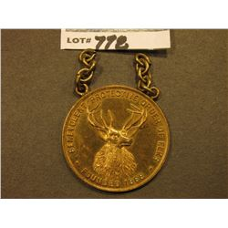 "Pendant Medal with two small links of chain attached ""Benevolent Protective Order of Elks/Founded 18"