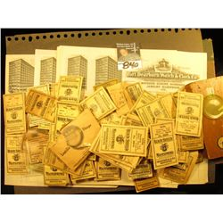 "More than (25) Old Invoices from the ""Fort Dearborn Watch & Clock Co. from the 1916-19 era; & a box"
