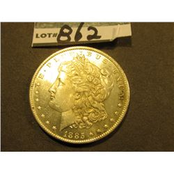 1885 O Morgan Silver Dollar. Lightly toned Uncirculated.