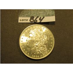 1904 O Morgan Silver Dollar. Gem Brilliant Uncirculated.
