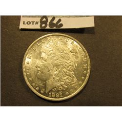 1881 O Morgan Silver Dollar. Uncirculated.