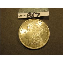 1882 S Morgan Silver Dollar. Lightly toned Gem Brilliant Uncirculated.