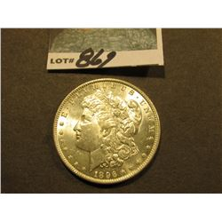1896 P Morgan Silver Dollar. Brilliant Uncirculated.