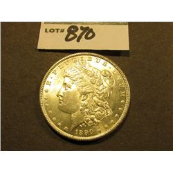 1890 P Morgan Silver Dollar. Brilliant Uncirculated.