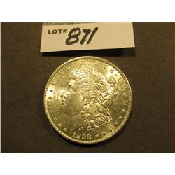 1898 P Morgan Silver Dollar. Semi-prooflike Brilliant Uncirculated.