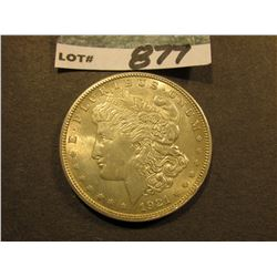 1921 D Morgan Silver Dollar. Gem Brilliant Uncirculated.